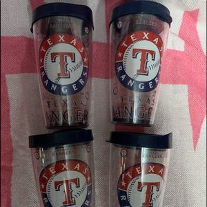 4 TEXAS RaNGERS BPA free Cups with lids